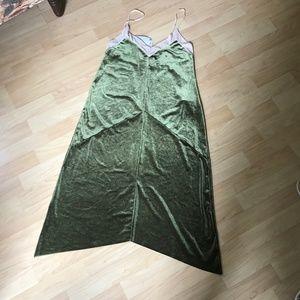 Zara NWT tank dress velvet mesh